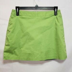 Addidas Green Jute Skort Size 8 Stretch